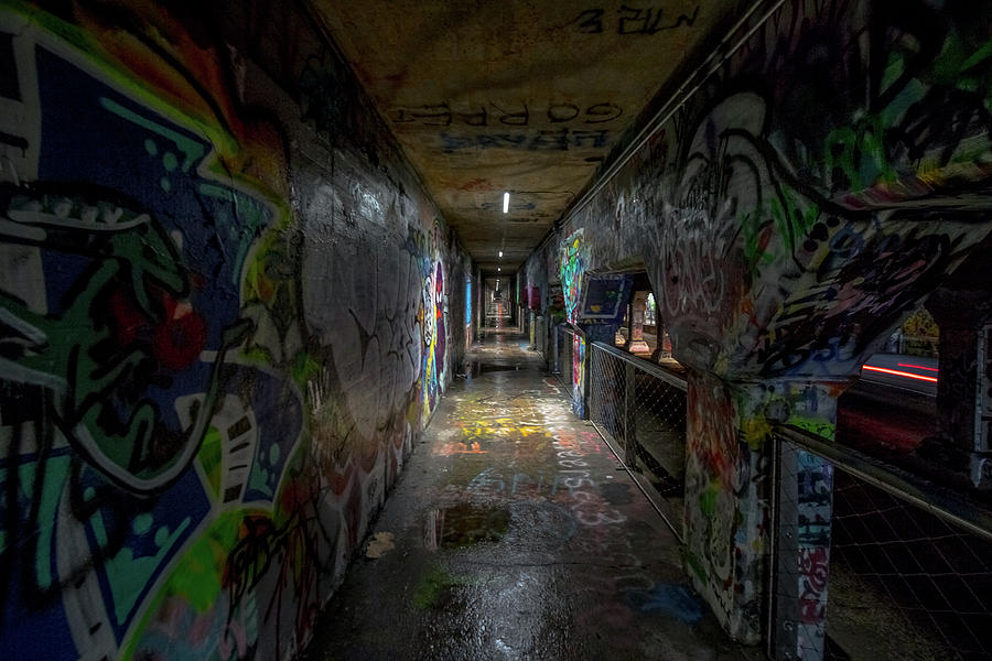 Graffiti Tunnel by Mike Dunn