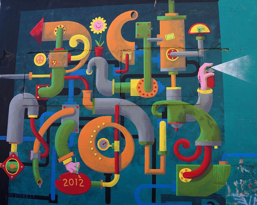 Graffiti Wall Photograph by Ann Keisling