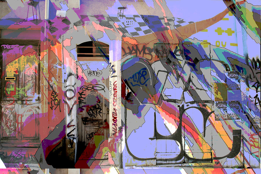 Front Door Mixed Media - Graffitis Front Door by Martine Affre Eisenlohr