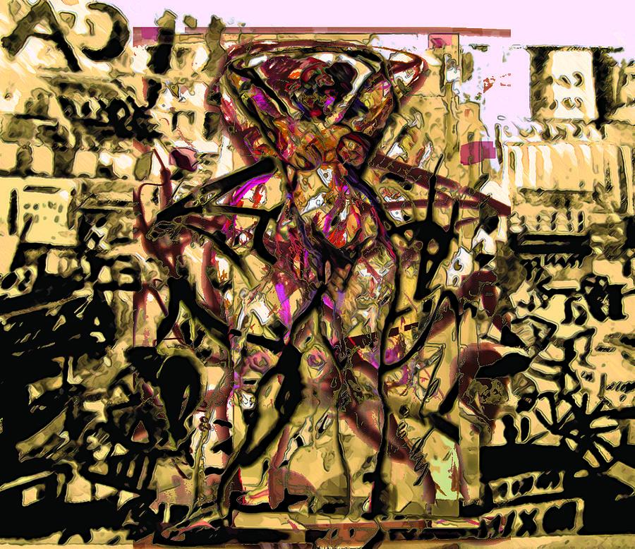 Graphiti Painting - Grafiti Dance by Noredin Morgan