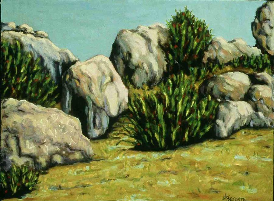 Landscape Painting - Grafitti by Helen O Hara