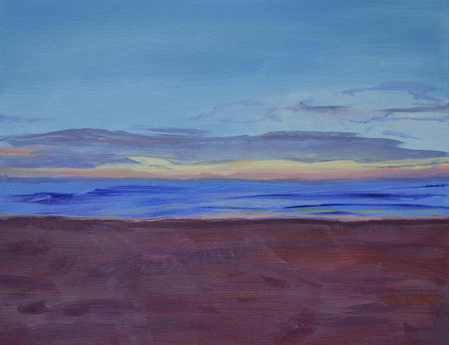Beach Painting - Grahams Beach by Mary Chant