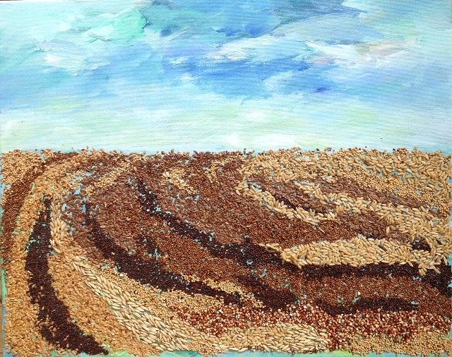 Grains Painting the Prairies I by Naomi Gerrard
