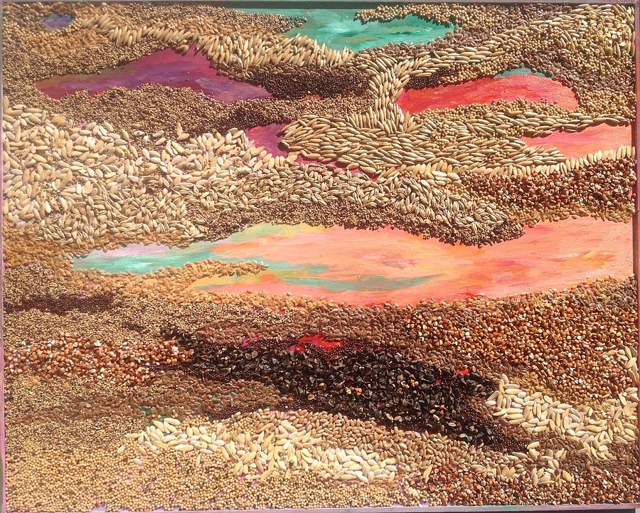 Grains Painting the Prairies IV by Naomi Gerrard