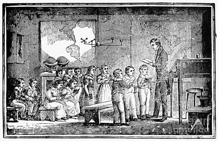 1790s Photograph - Grammar School, 1790s by Granger