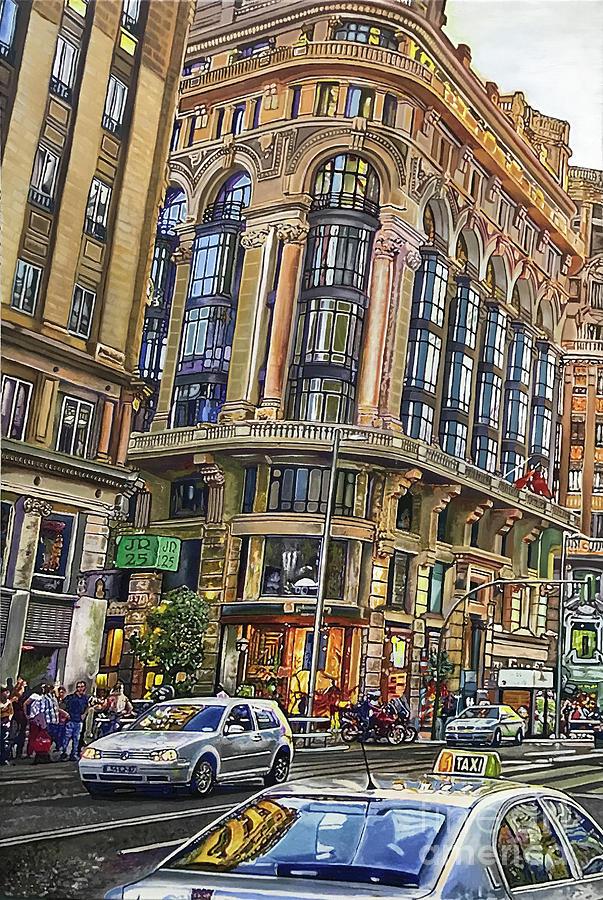 Cityscapes Painting - Gran Via by Antonio De Irun