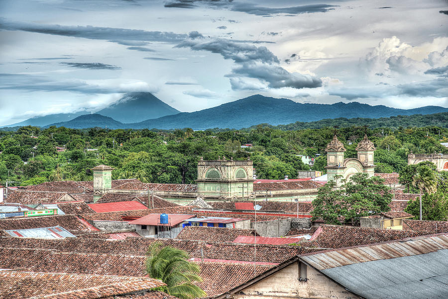 Nicaragua Photograph - Granada Rooftops  by Michael Santos