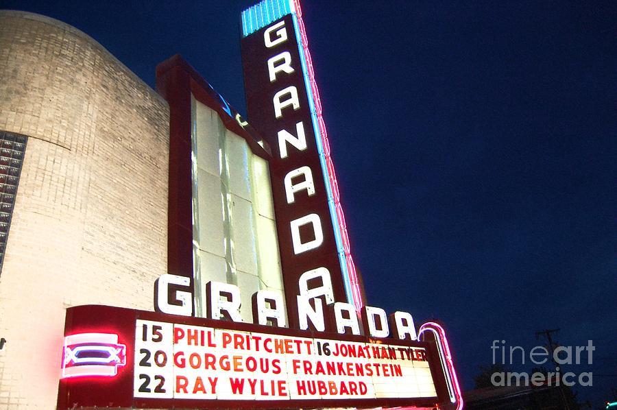 Music Photograph - Granada Theater by Debbi Granruth
