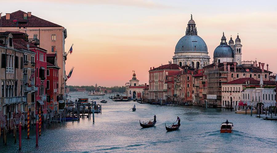 Grand Canal at Dusk - Venice by Barry O Carroll