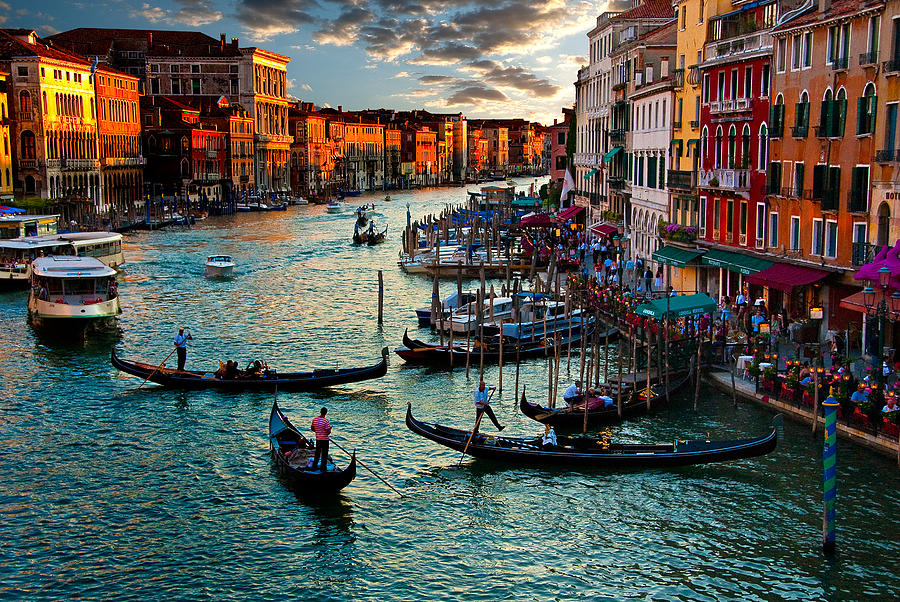 Grand Canal Photograph - Grand Canal Sunset by Harry Spitz