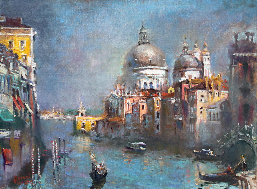 Venice Painting - Grand Canal Venice 2 by Ylli Haruni