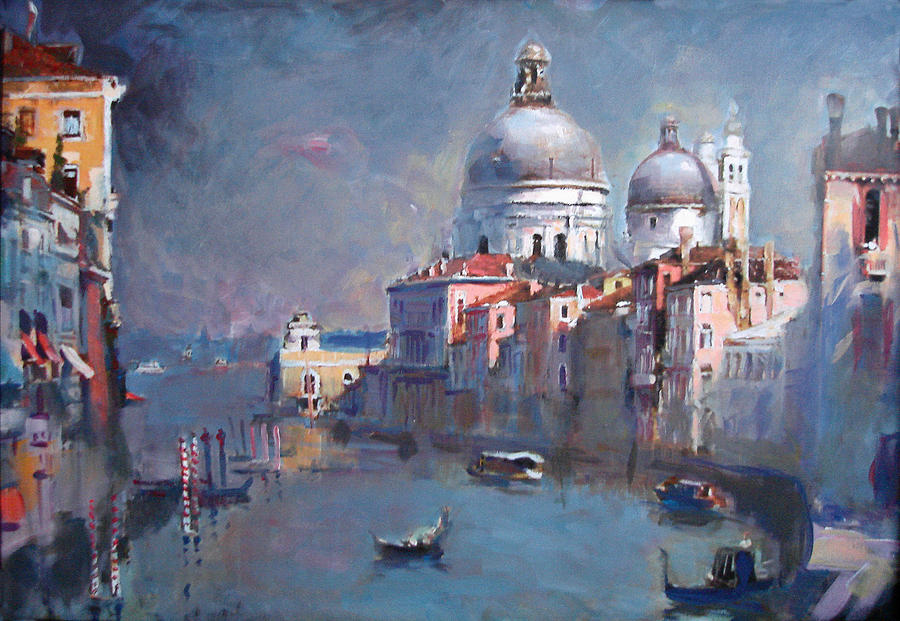 Landscape Painting - Grand Canal Venice by Ylli Haruni