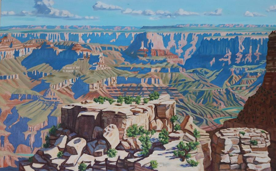 Landscape Painting - Grand Canyon  by Allen Kerns