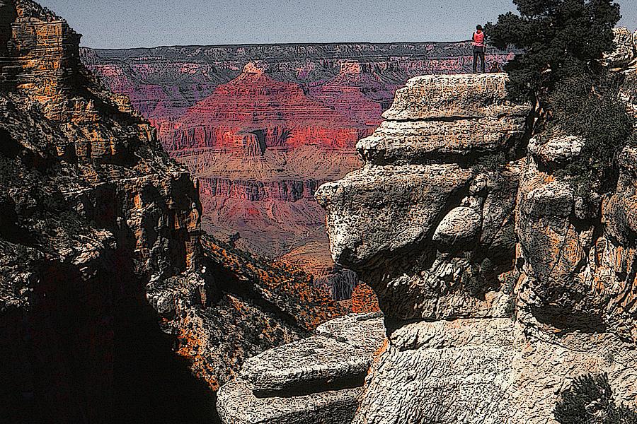 Grand Canyon Arizona - Photo Art Illustration by Peter Potter