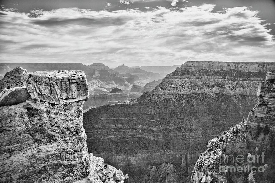 Grand Canyon Black White 5 Photograph By Chuck Kuhn