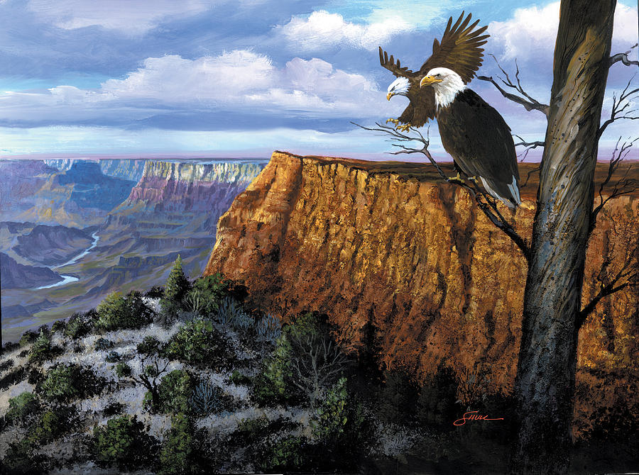 Grand Canyon Painting - Grand Canyon Lookout by Harold Shull