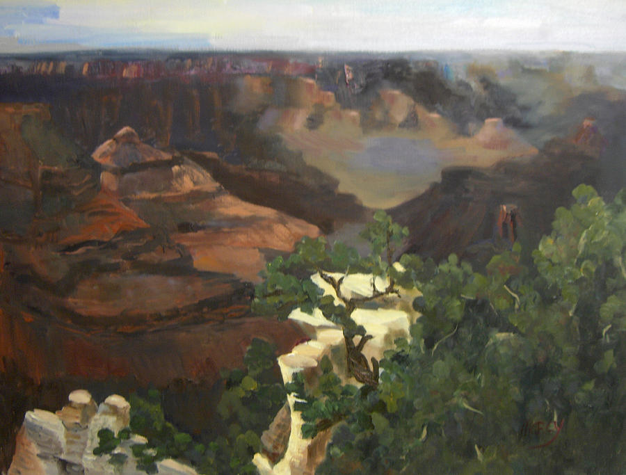 Landscape Painting - Grand Canyon by Marcy Silverstein