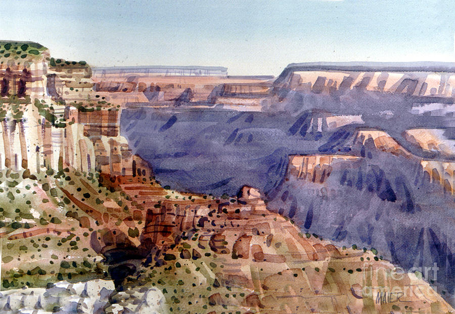 Grand Canyon Morning Painting By Donald Maier