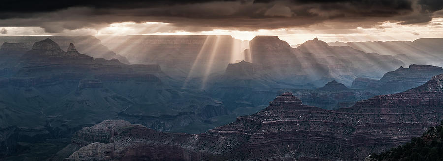 Grand Canyon Morning Light Show Pano Photograph