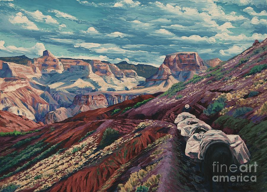 Grand Canyon Mule Skinners by Cheryl Fecht