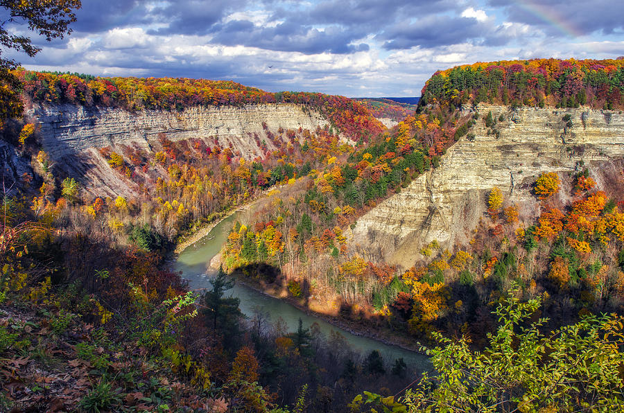 Letchworth State Park Photograph - Grand Canyon Of The East by Mark Papke