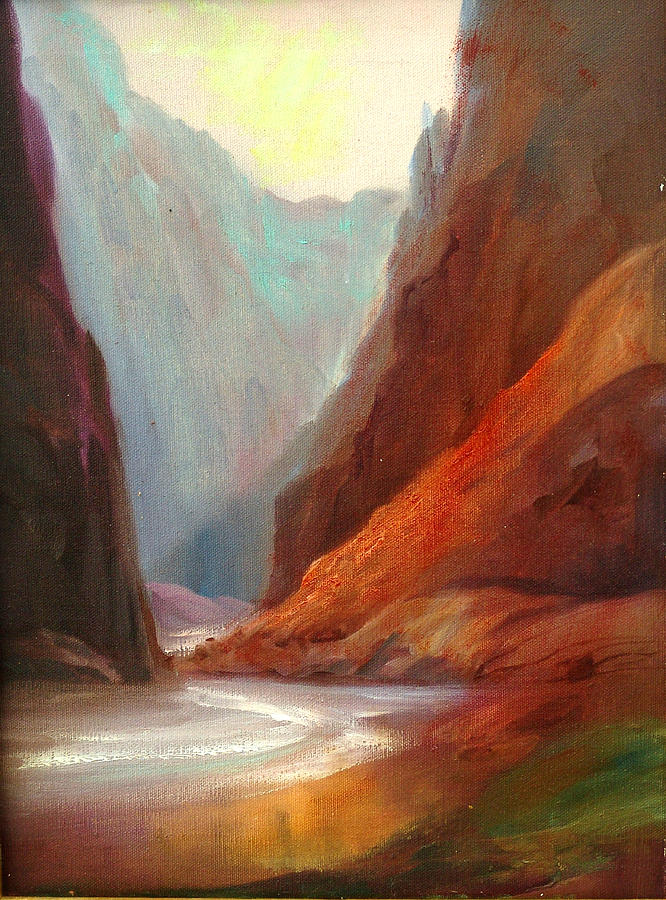 Rafting Painting - Grand Canyon Rafting by Sally Seago