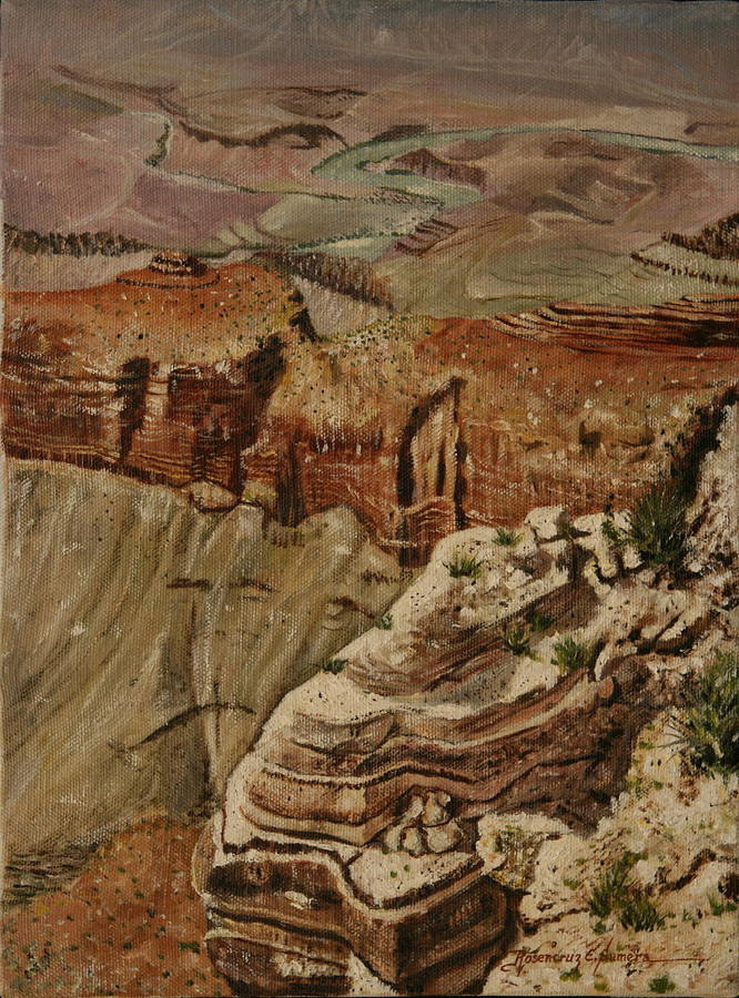 Landscape Painting - Grand Canyon by Rosencruz  Sumera