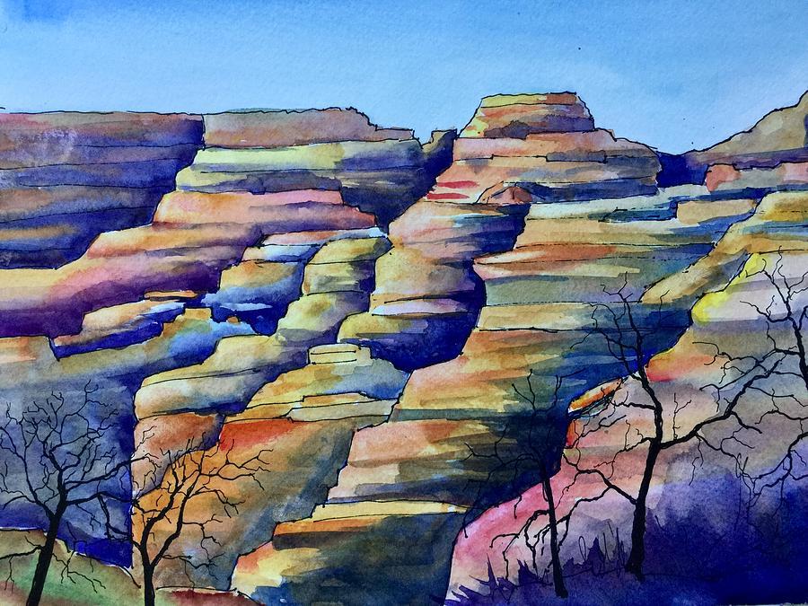Grand Canyon Sketch Painting by Eva Nichols