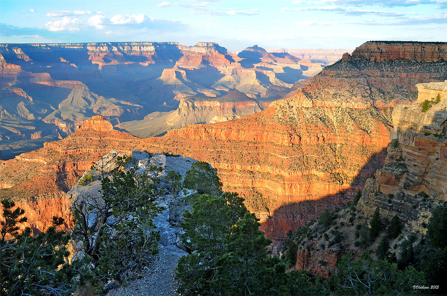Grand Canyon South Rim at Sunset by Victoria Oldham