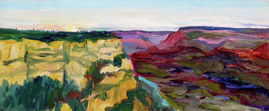 Plein Air Painting - Grand Canyon South Rim by Joseph Demaree