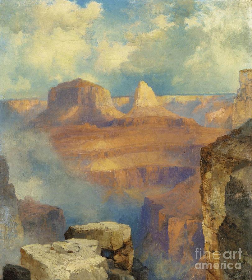 Thomas Moran Painting - Grand Canyon by Thomas Moran
