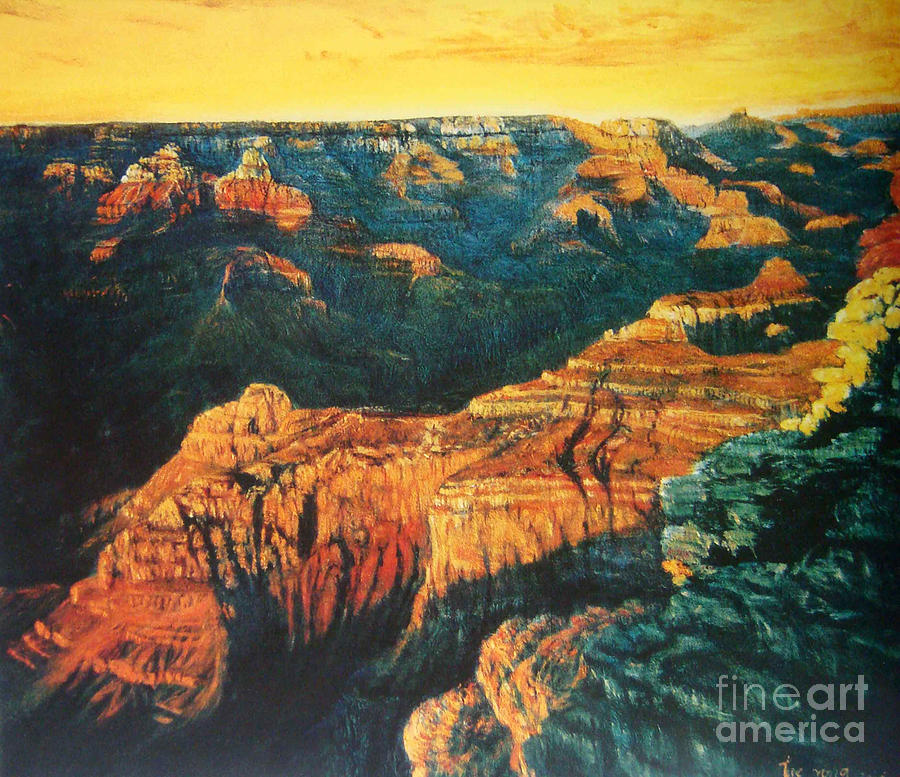 Grand Canyon Painting - Grand Canyon by Tierong Fu