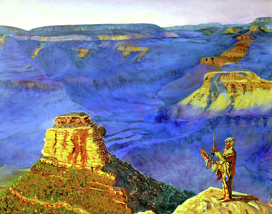 Grand Canyon Painting - Grand Canyon V by Stan Hamilton