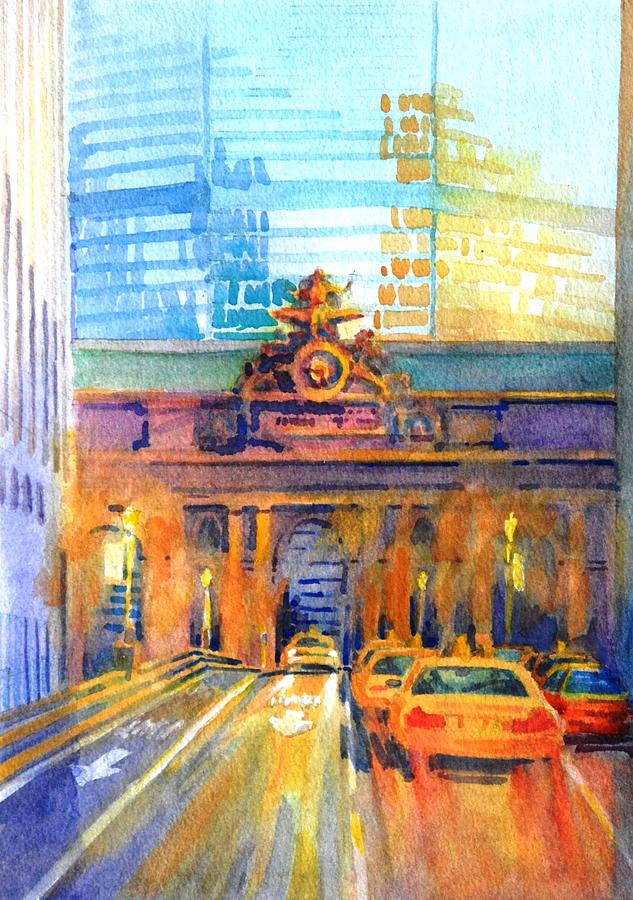 New York City Painting - Grand Central Before Six, Driver by Virgil Carter