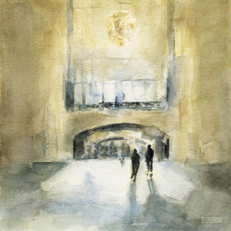 New York Painting - Grand Central Terminal Light by Beverly Brown