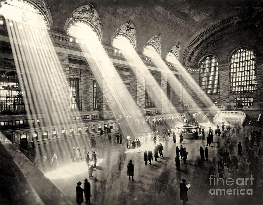 Grand Central Photograph - Grand Central Terminal, New York In The Thirties by American School