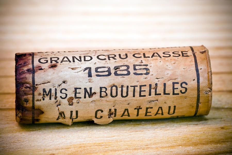 Grand Cru Photograph - Grand Cru Classe Bordeaux Wine Cork by Frank Tschakert