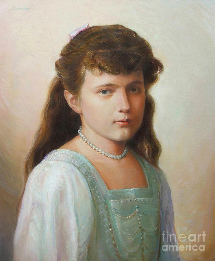 Grand Duchess Anastasia Painting - Grand Duchess Anastasia Nikolaevna Of Russia by George Alexander