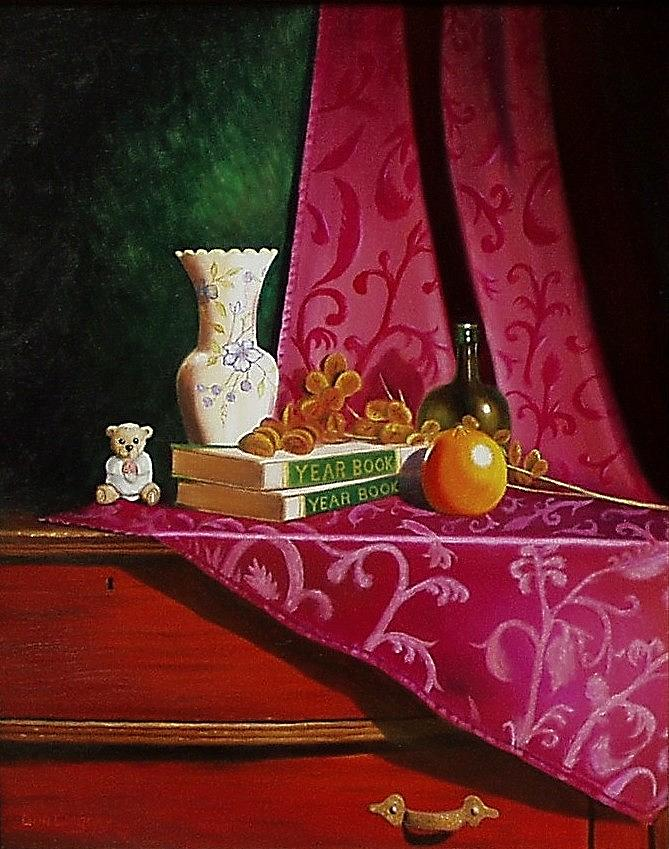 Still Life Painting - Grand Mas Dresser by Gene Gregory
