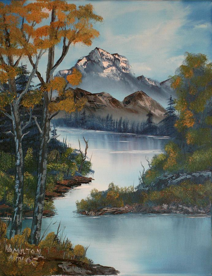 Oil Painting Painting - Grand Mountain by Larry Hamilton