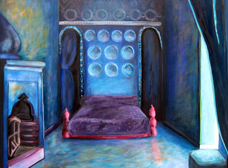 Bedroom Painting - Grand Nap by Rebecca Merola
