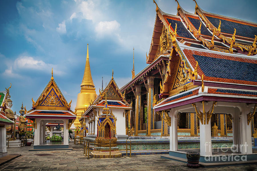 Asia Photograph - Grand Palace Square by Inge Johnsson