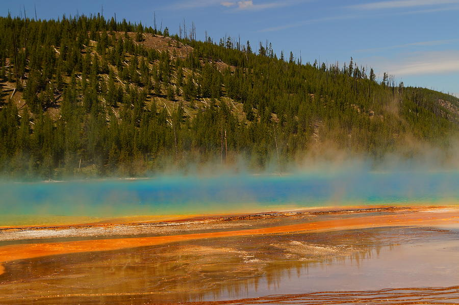 Colorful Photograph - Grand Prismatic Pool by Beth Collins