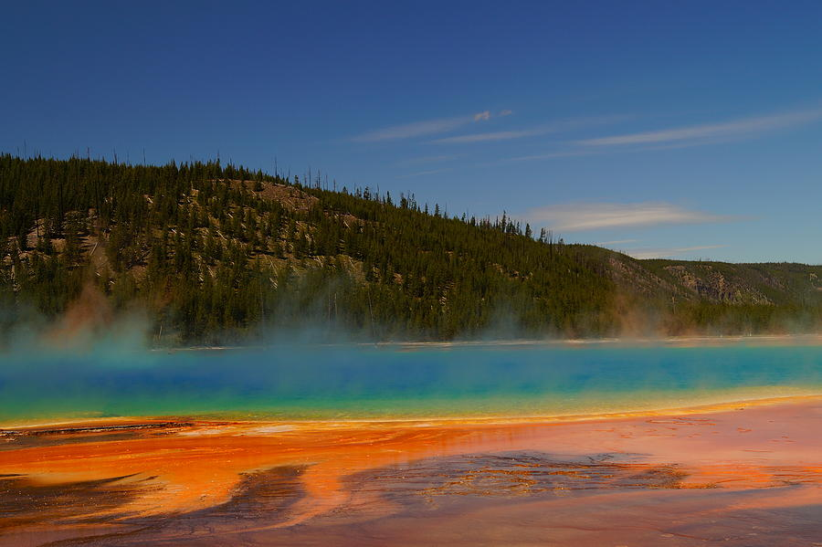 Colorful Photograph - Grand Prismatic Pool II by Beth Collins