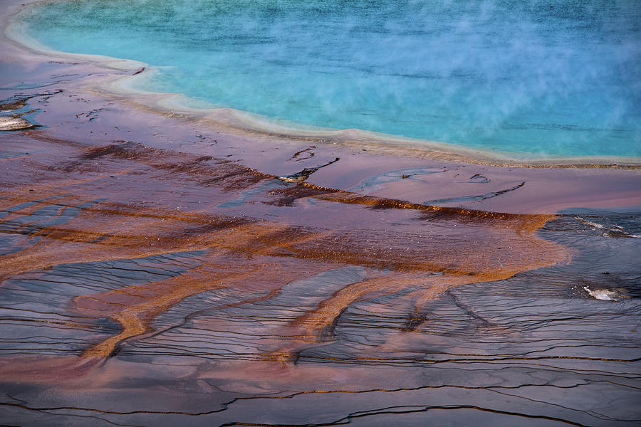 Grand Prismatic Spring Detail by Jennifer Ancker