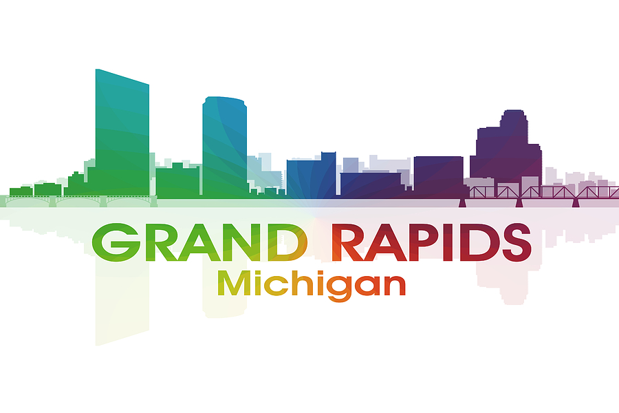 Grand Rapids Mixed Media - Grand Rapids Mi by Angelina Tamez