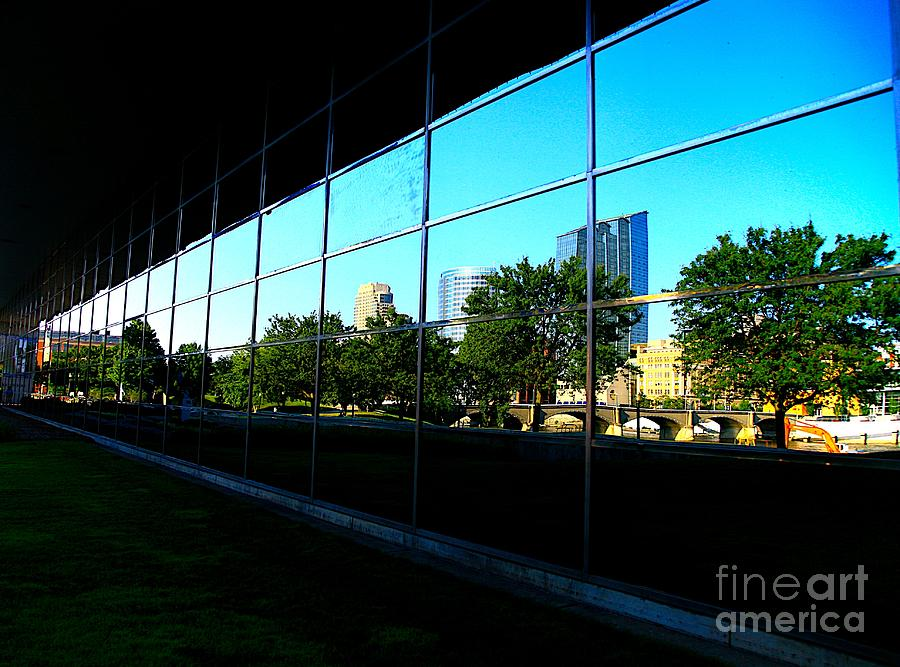 City Photograph - Grand Rapids Mi On Glass-12 by Robert Pearson