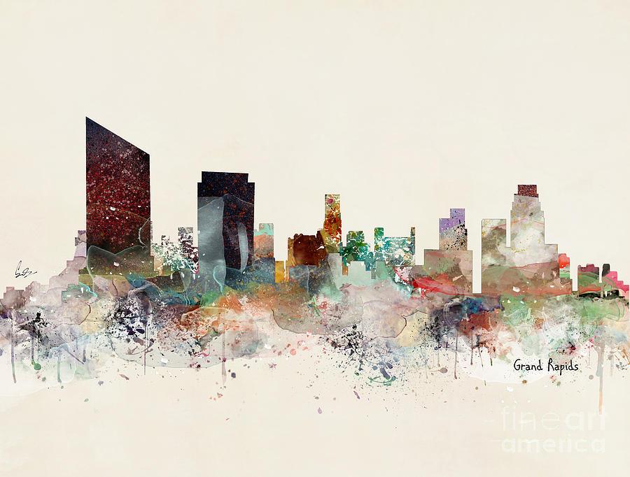 Grand Rapids Painting - Grand Rapids Michicgan by Bri Buckley