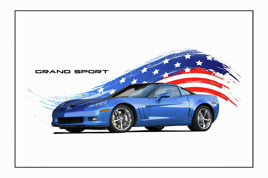 Chevrolet Digital Art - Grand Sport by Peter Chilelli