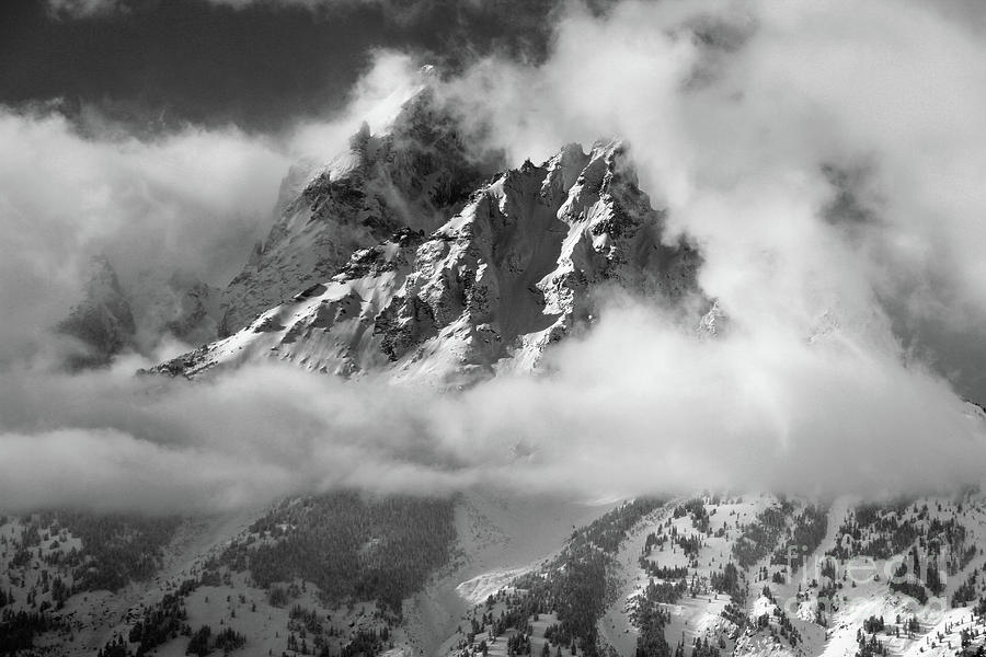 Gran teton photograph grand teton black and white by edward r wisell
